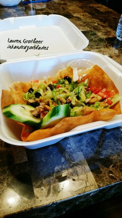 Yummy Tacosalad Salsa Mexican MexFood Lunch Time! Delicious Yummy♡ EatHealthy