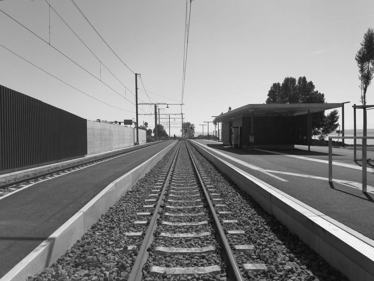 Perspective Lines Geometry Blackandwhite Blackandwhite Photography Bright Day Daylight Rails Tramway The Street Photographer - 2017 EyeEm Awards