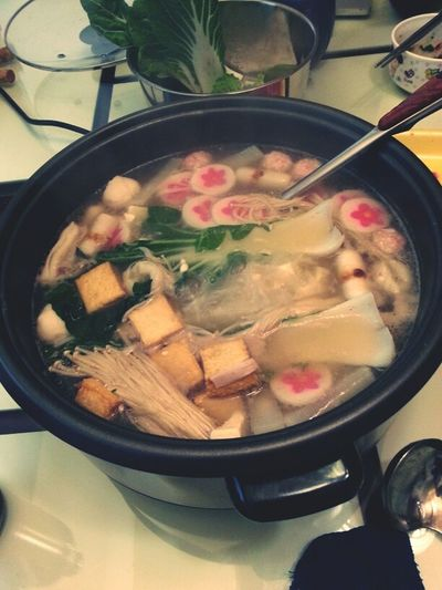 homemade hotpot and chillin #collegefriends
