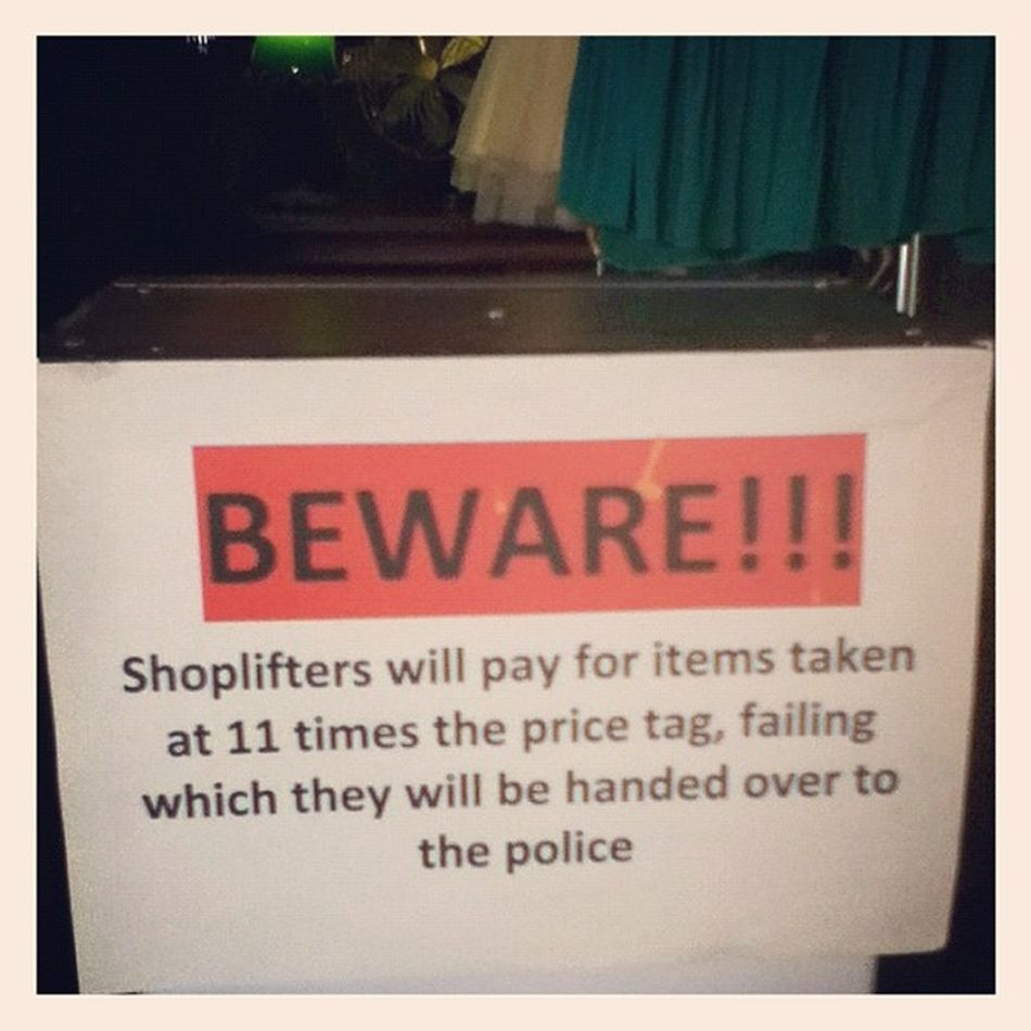 Saw this sign at this shop in Bangsar yesterday