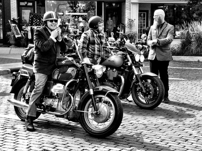 Transportation Blackandwhite Motorcycles Classic Style Classic Motorcycles People And Places Woodstock Well Turned Out