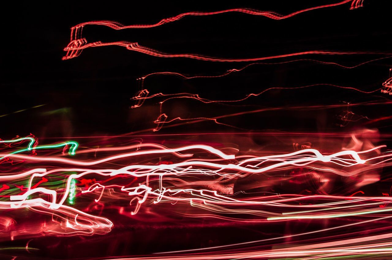 Red Night No People Motion Abstract Long Exposure Illuminated Power In Nature Neon Outdoors Lightpainting in Erlangen