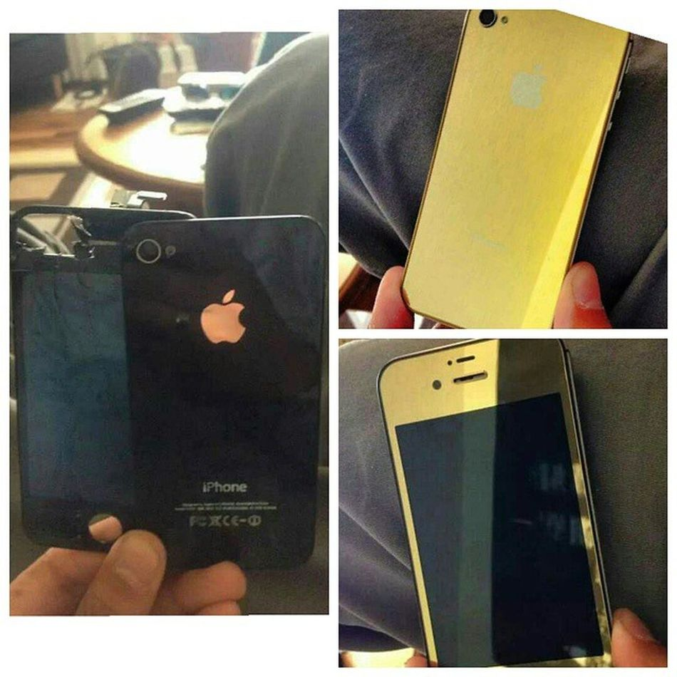 Dez's new golden Iphone4 ! Phonefix Screenrepair Colourconversion