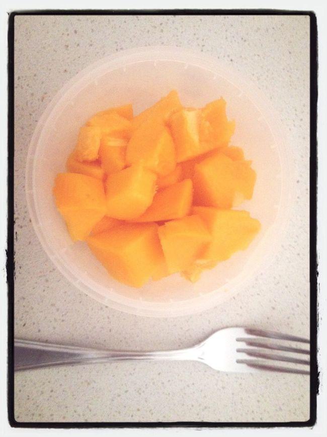 Papaya for breakfast :D