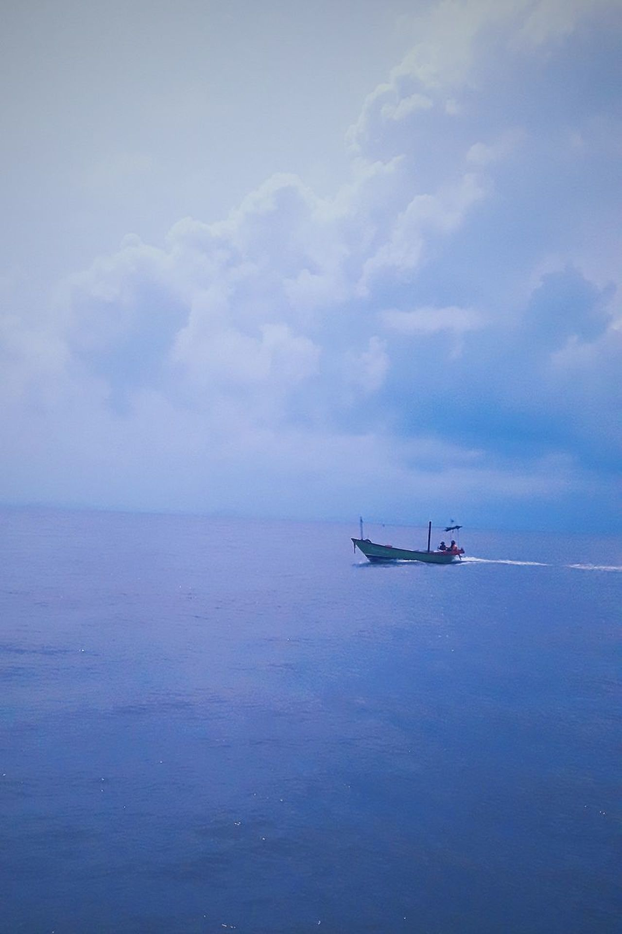 Blue Cloud - Sky No People Sea Outdoors Day Sky Nature Postcard Captured Moment Sea And Sky Holidays ☀ Memories ❤ Lonelyday Lonely Place  Boat Life Travel Boat