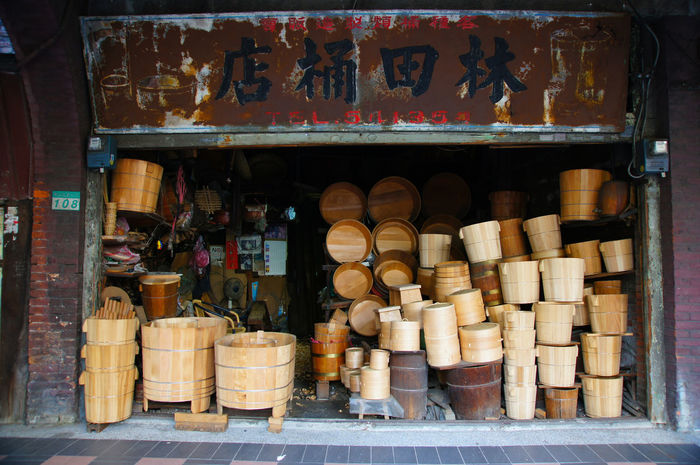 Handicraft Barrel Casks Culture Day ERA Large Group Of Objects Market Material Miss No People Nostalgia Outdoors Store Taiwan Time Wood