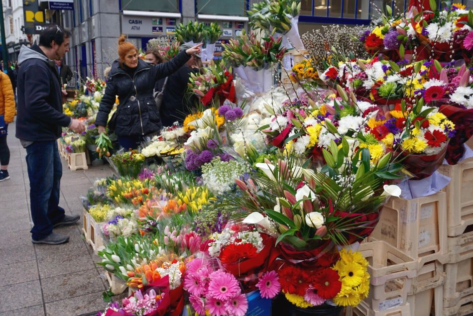 All the lovely colors in the world... Flower Retail  Flower Shop Flower Market For Sale Florist Abundance Bouquet Small Business Large Group Of Objects Freshness Choice Arrangement Customer  Market Plant Dublin Ireland Travel Colorful