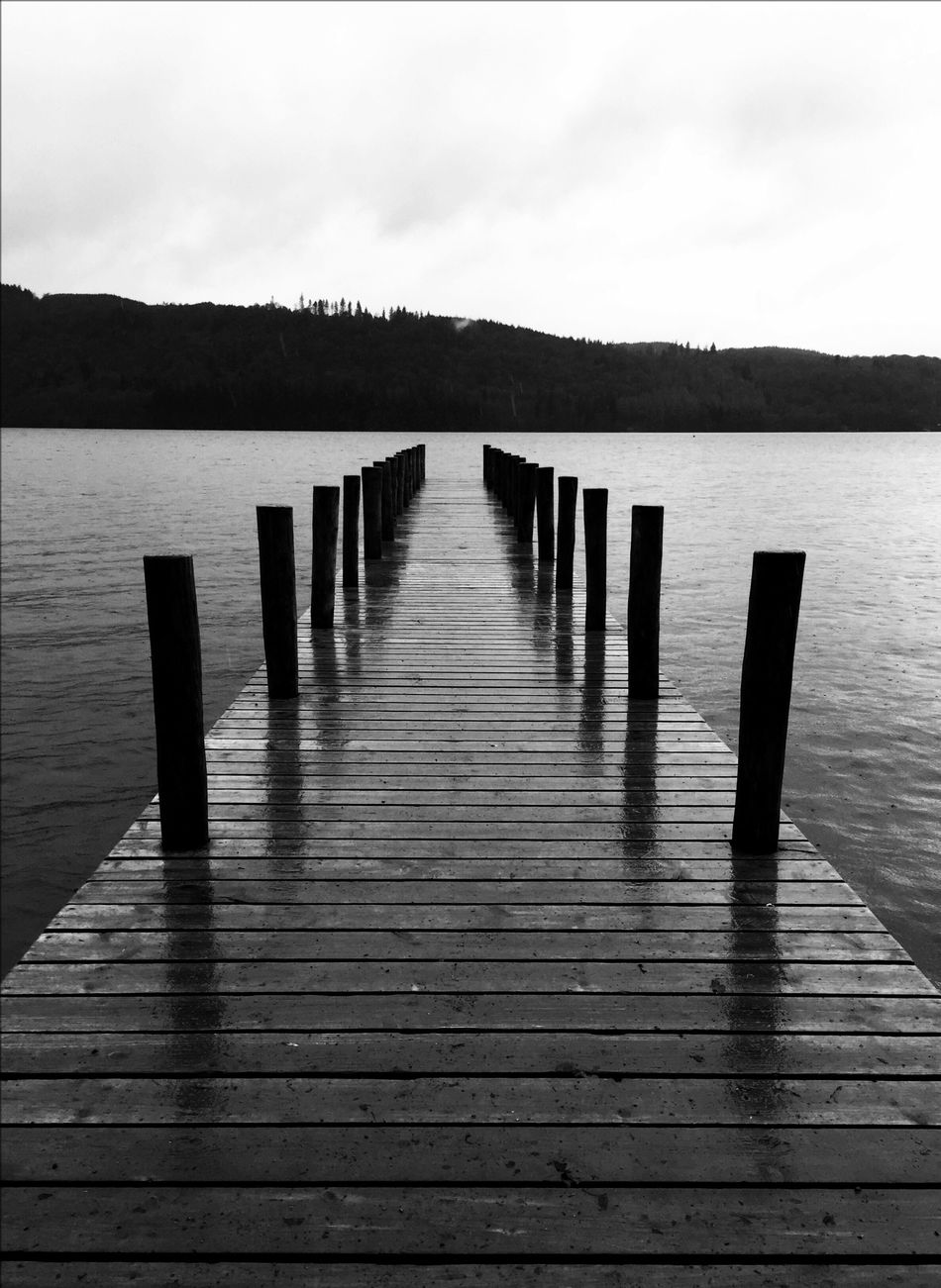 Lake Windermere Lake Lake View Jetty Blackandwhite Black And White Black & White Monochrome Landscape Leading Lines Water Waterfront EyeEm Best Shots EyeEm Best Shots - Black + White Capture The Moment Welcome To Black