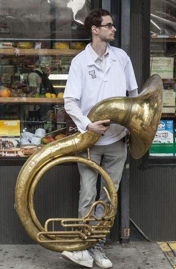 Musician New York Dance Parade Portrait Sousaphone Player