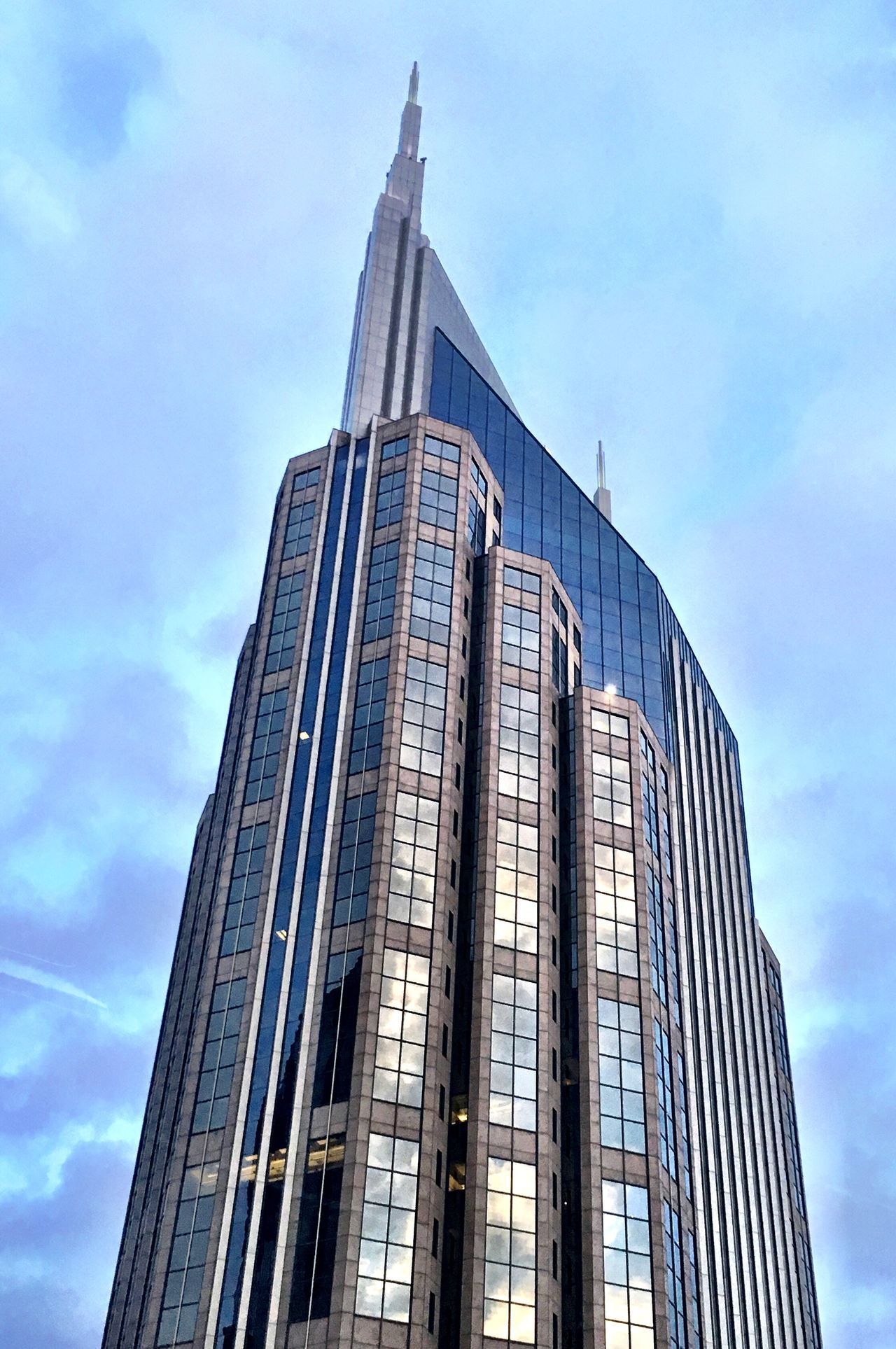 """Nashville's """"Batman"""" Building Architecture Building Exterior Built Structure Sky Day Office Block Adapted To The City Adapted To The City"""