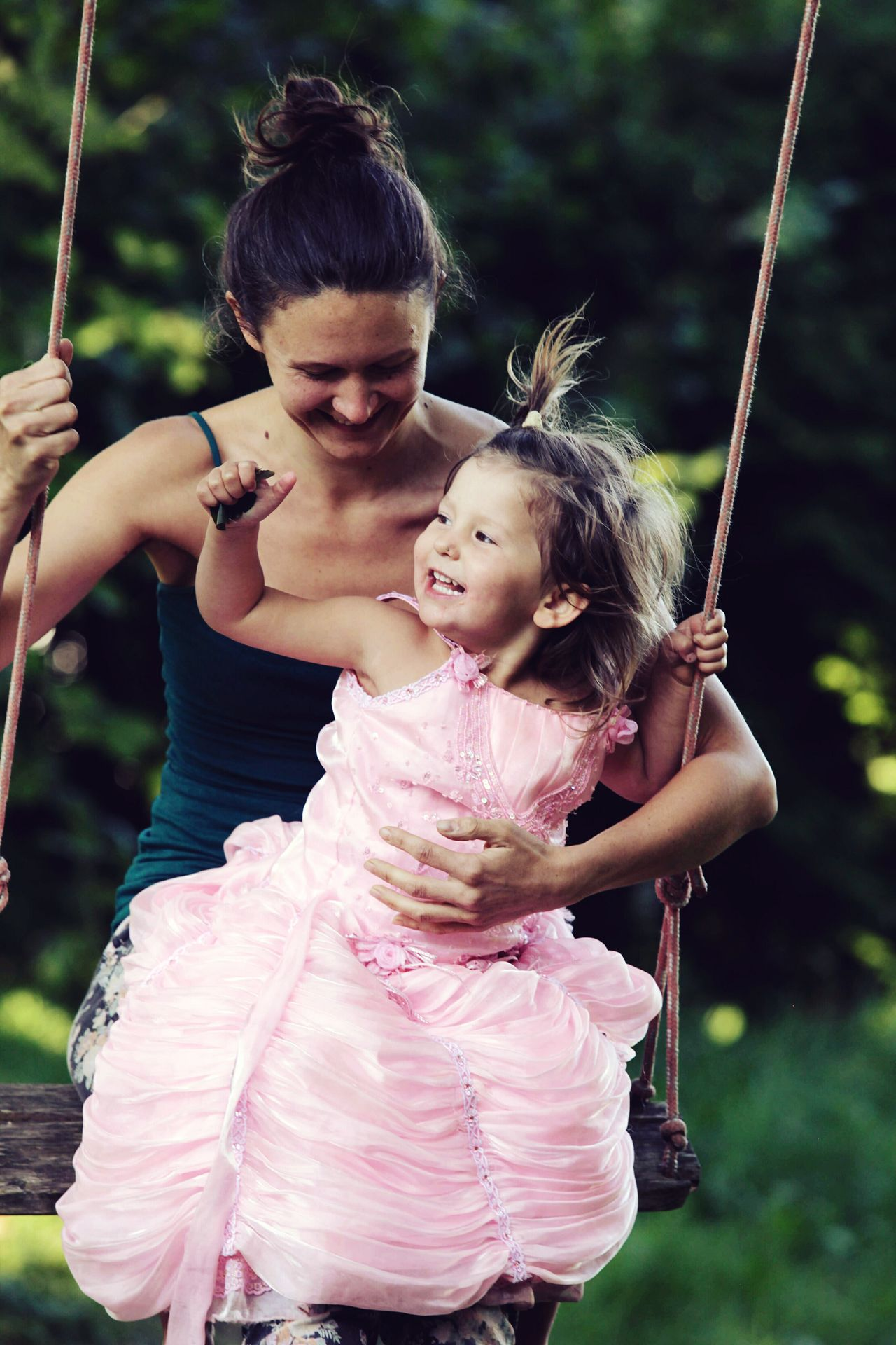 Mother Mother & Daughter Mother And Child Motherhood Child Childhood Two People Smiling Fun Happiness Cheerful Togetherness Leisure Activity Enjoyment Outdoors Swing People Playing Enjoying Life Bonding Happiness Fun Family EyeEmNewHere