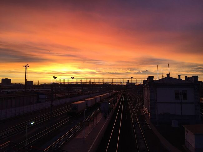 Sunrise Railroad Station Moscow Watcharound Nofilter Morning