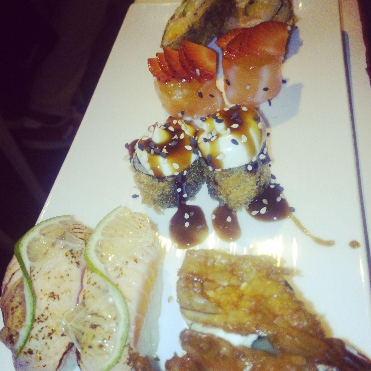 Asian Culture Sushi Rolls food