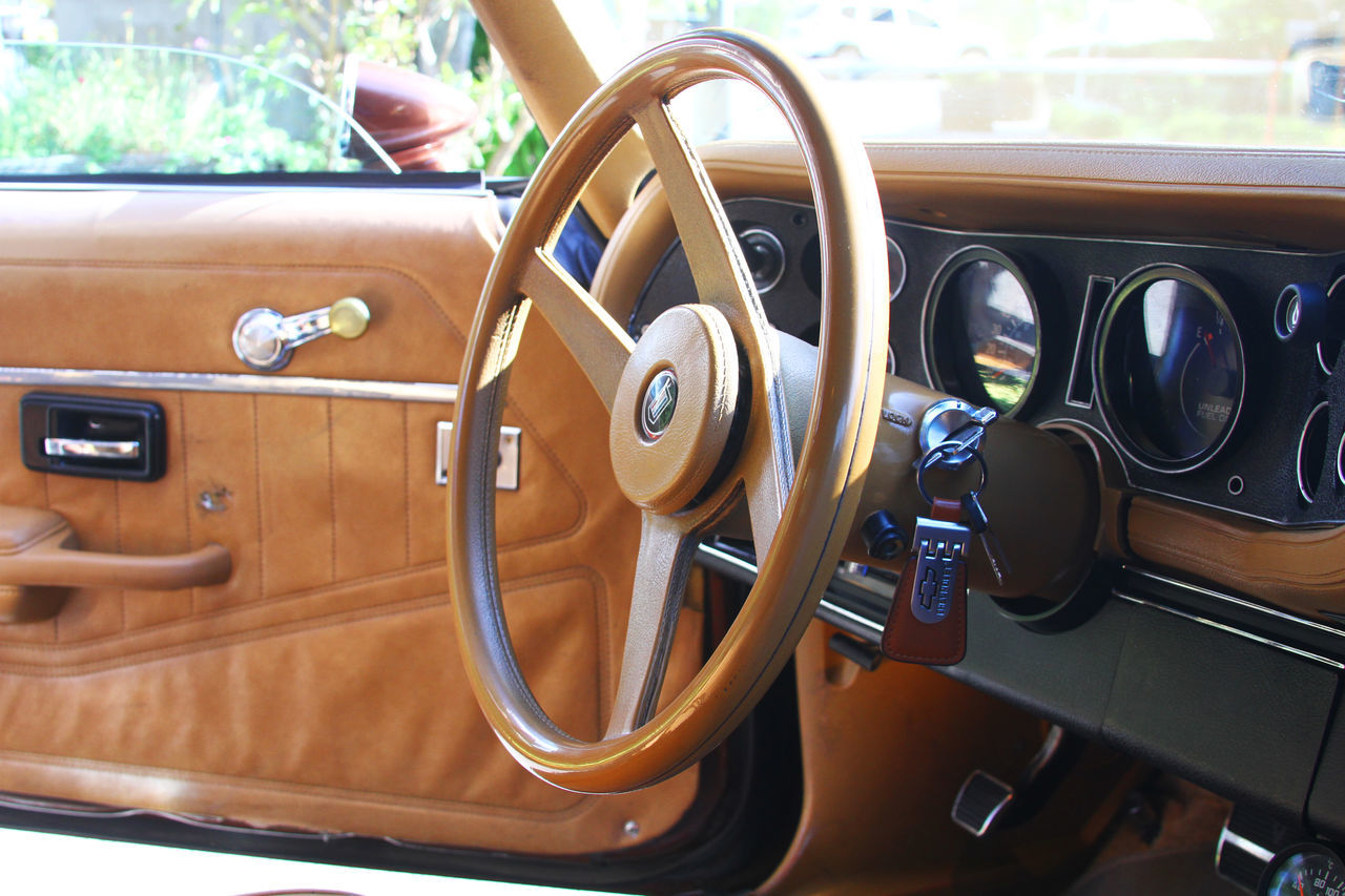 Vintage Comoro at its finest. Antique Car Borzuravan Brown Leather Car Car Interior Chevrolet Chevrolet Camaro Classic Car Comoro Convertible Dashboard Leather Outdoor Ride Steering Wheel Steeringwheel Summertime Sunny Day Sunroof Transportation Travel Vehicle Vehicle Door Vehicle Interior Vintage Cars First Eyeem Photo