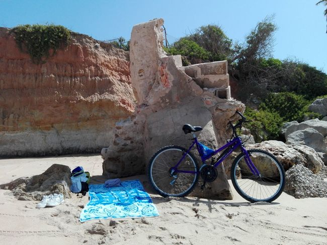 My Favorite Place Bicycle Beach Non-urban Scene Mode Of Transport Summer Multi Colored