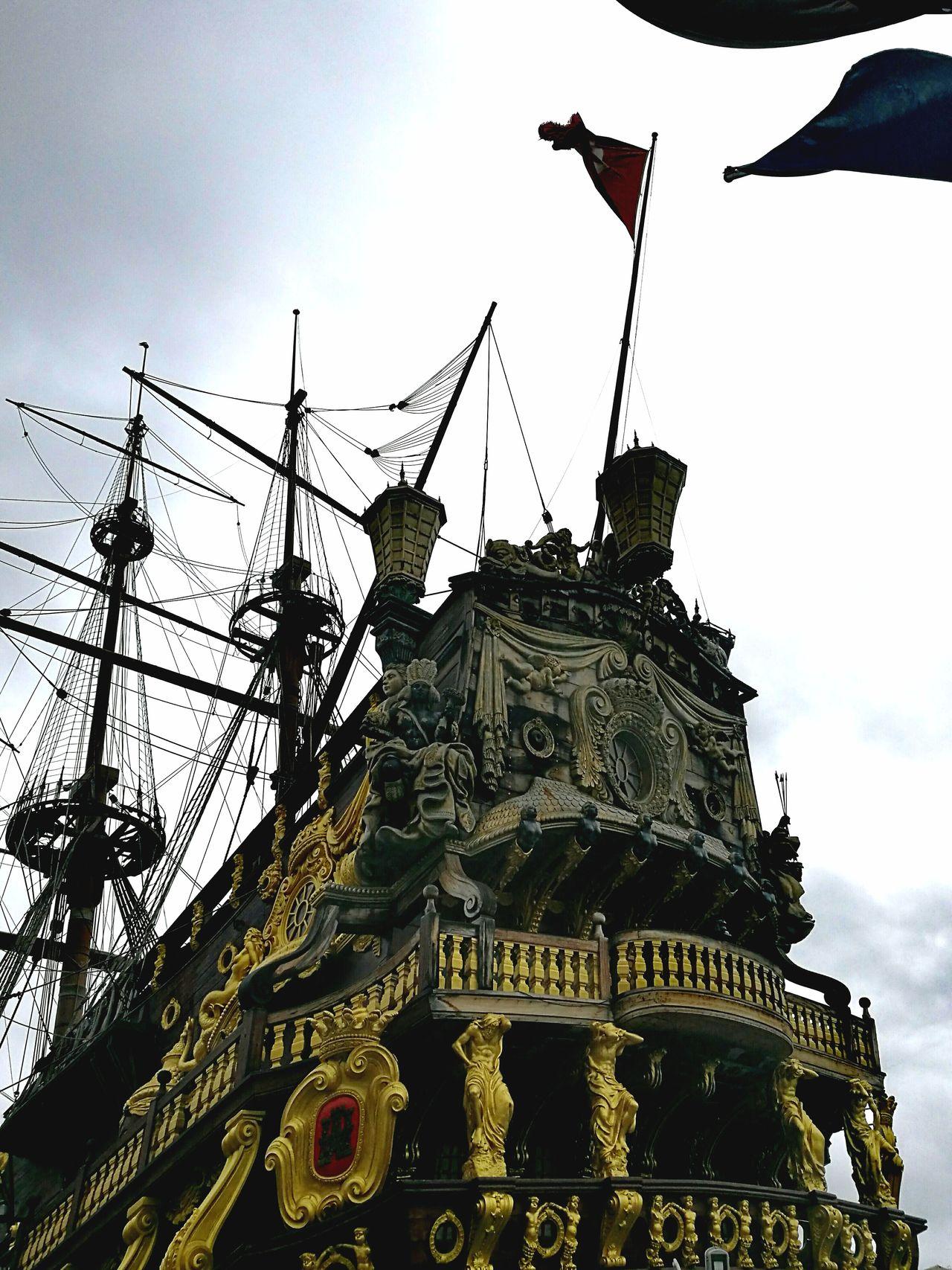Outdoors Day Vessel In Port Pirateship  Genoa, Italy, Europe, Liguria Porto Antico,Genova Pirates Roman Polanski