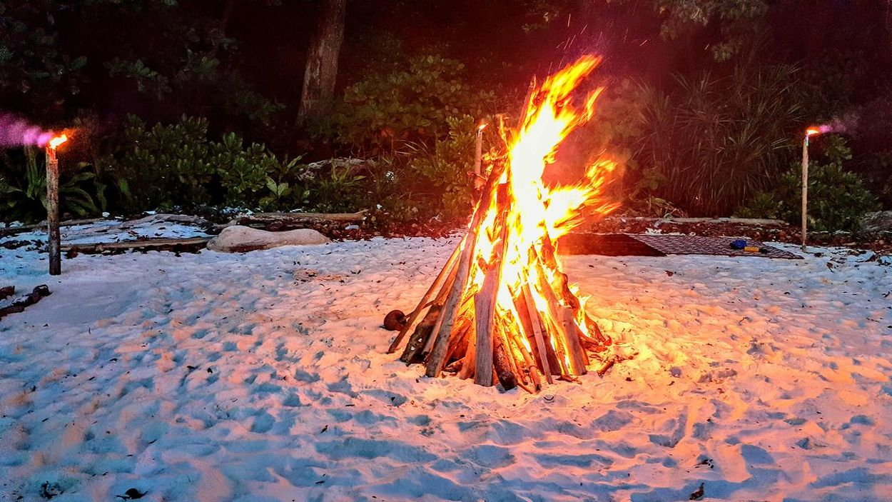 Heat - Temperature Flame Night Burning Outdoors Illuminated Close-up Warmth Fire Campfire Campfire Flames Travel Nature Serenity Today's Hot Look Travel Photography Mergui Archipelago Mergui Burma Myanmar Beauty In Nature Travel Destinations Hot Barbecue Peaceful