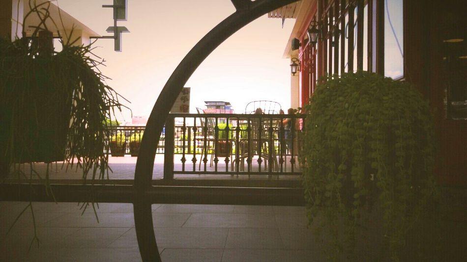Bicycle wheel, Decorative Structure @Ta Maharaja, Enjoying The View of Chao Praya River.