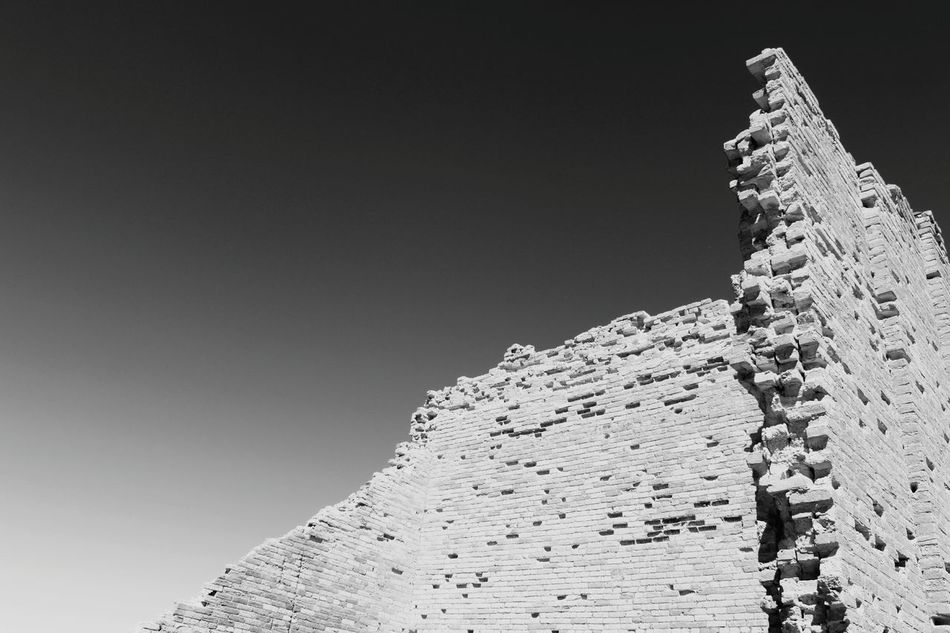 More ruins at Swansea. Ruins Minimalism Mining Heritage Brick Crumbling Building Textures And Surfaces Texture Black And White Blackandwhite Monochrome Architecture Arizona Ghost Town
