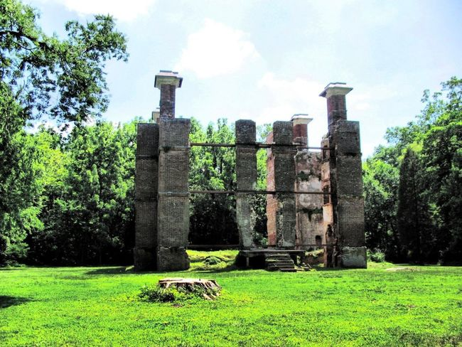 The Ruins of Rosewell Architecture Built Structure Cloud Cloud - Sky Day Field Grass Grassy Green Green Color Growth Historical Building Landscape Lawn Mammal Nature No People Outdoors Plant Rosewell Mansion Ruin Sky The Past Tranquility Tree