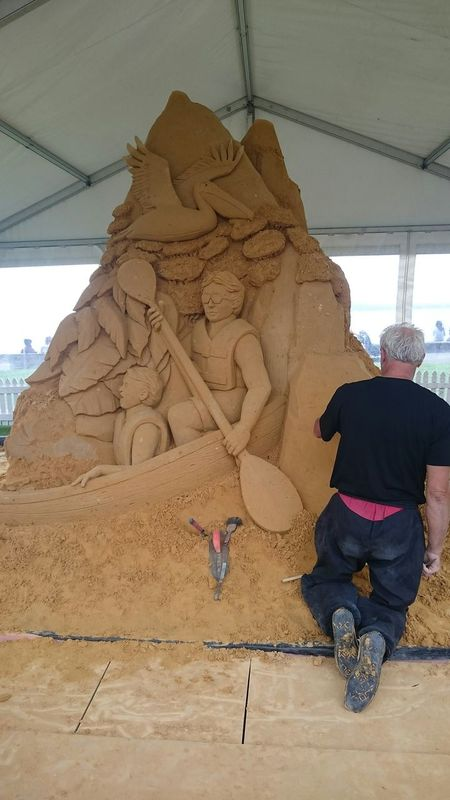 Kayak through the Pumicestone Passage and explore the Glasshouse Mountains Sand Sculpture @