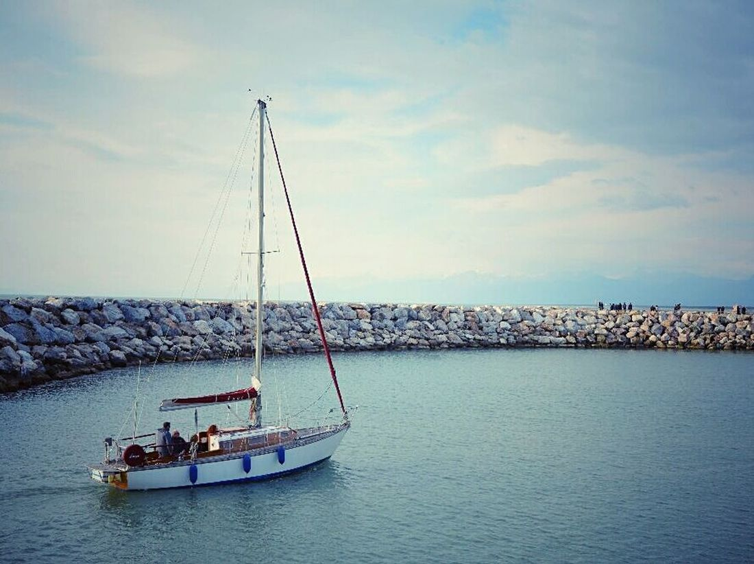 Marina Di Pisa Pastel Power Sea Sea And Sky Seascape Boats Tranquility Sea View Spring Emotions Travel