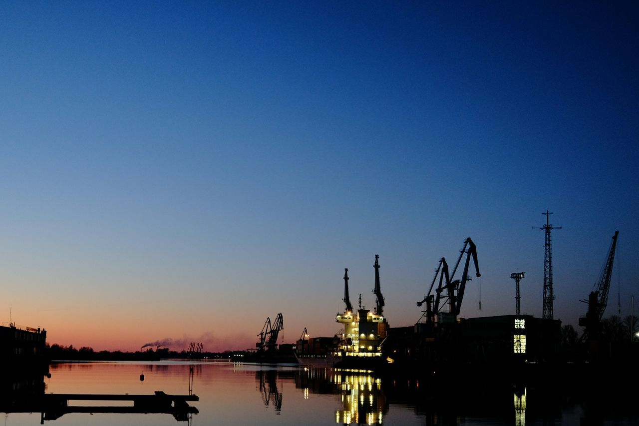 Андрейоста вечером. Reflection Water Tranquility Tree Sky Nautical Vessel Business Finance And Industry Sunset Nature No People Silhouette Outdoors Beauty In Nature