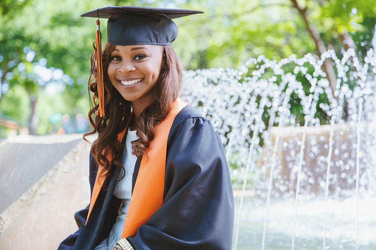 Graduate Gradpic 2016 Goals Education Scholar Educatedgirlsrock Jey Media Orange Nose Piercing Proud Moment  Photo Shoot Water Fountain Be. Ready.