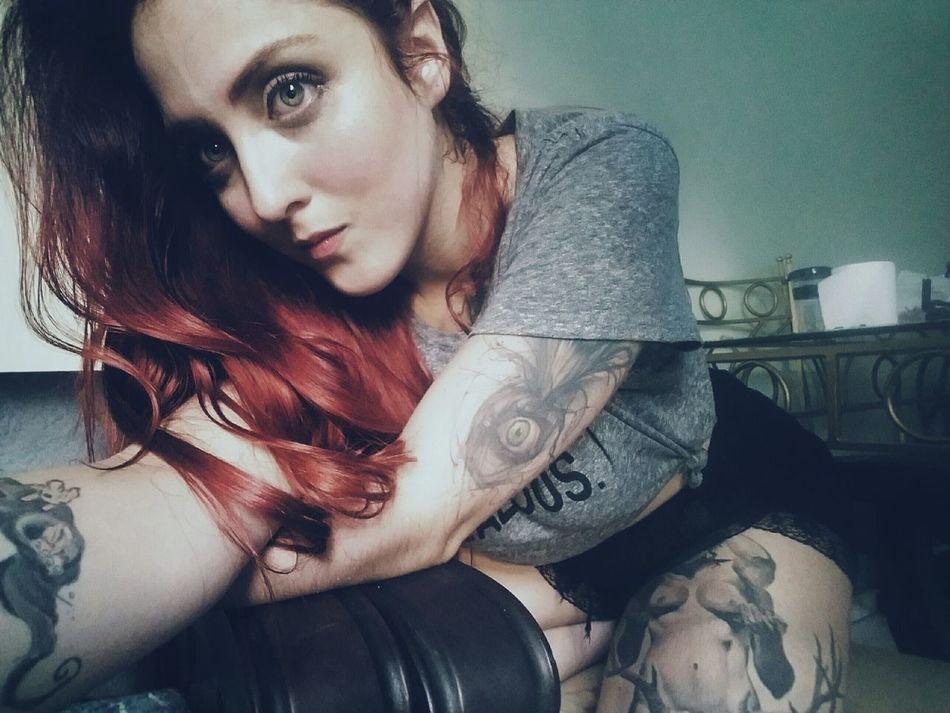 Young Adult Lifestyles Indoors  One Person Portrait Adults Only Beautiful Woman SuicideGirls Me Myself And I Likeforlike Followme Alt Model Tattoolife Tattoedgirls Tattoo Girl