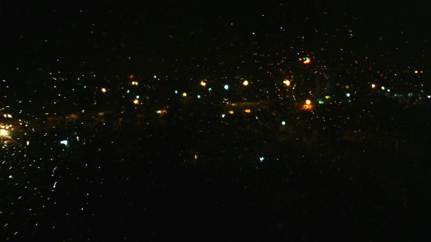 Rain through my window Raindrops Rain City Lights Cityscape The View From My Window Night View Wasting Time Bored
