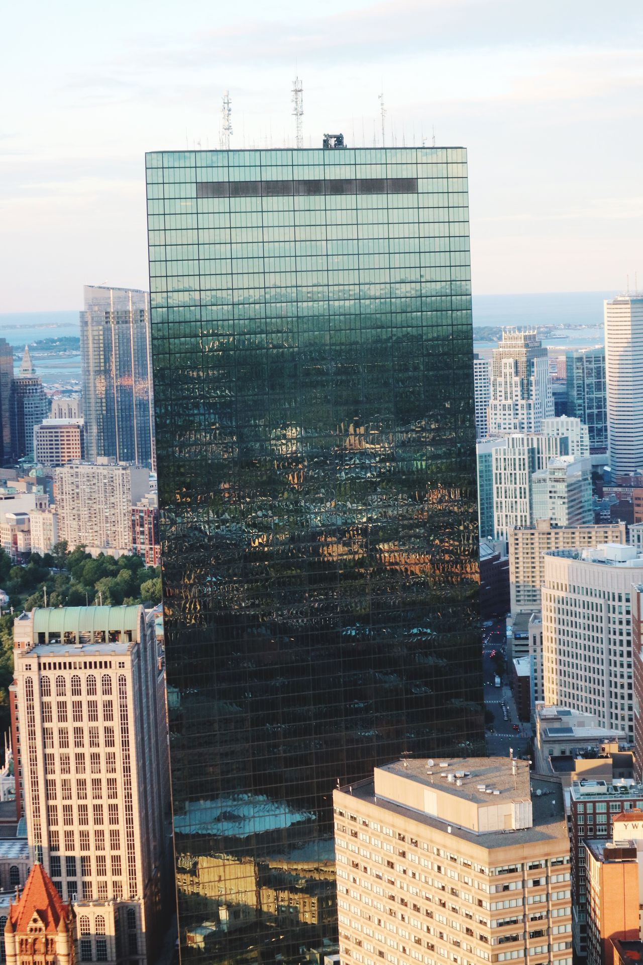Boston Cityscape Cityscape Cityscapes_collection Cityscapes From My Point Of View From Above  Boston Massachusetts City Buildings Architecture_collection Building Reflections
