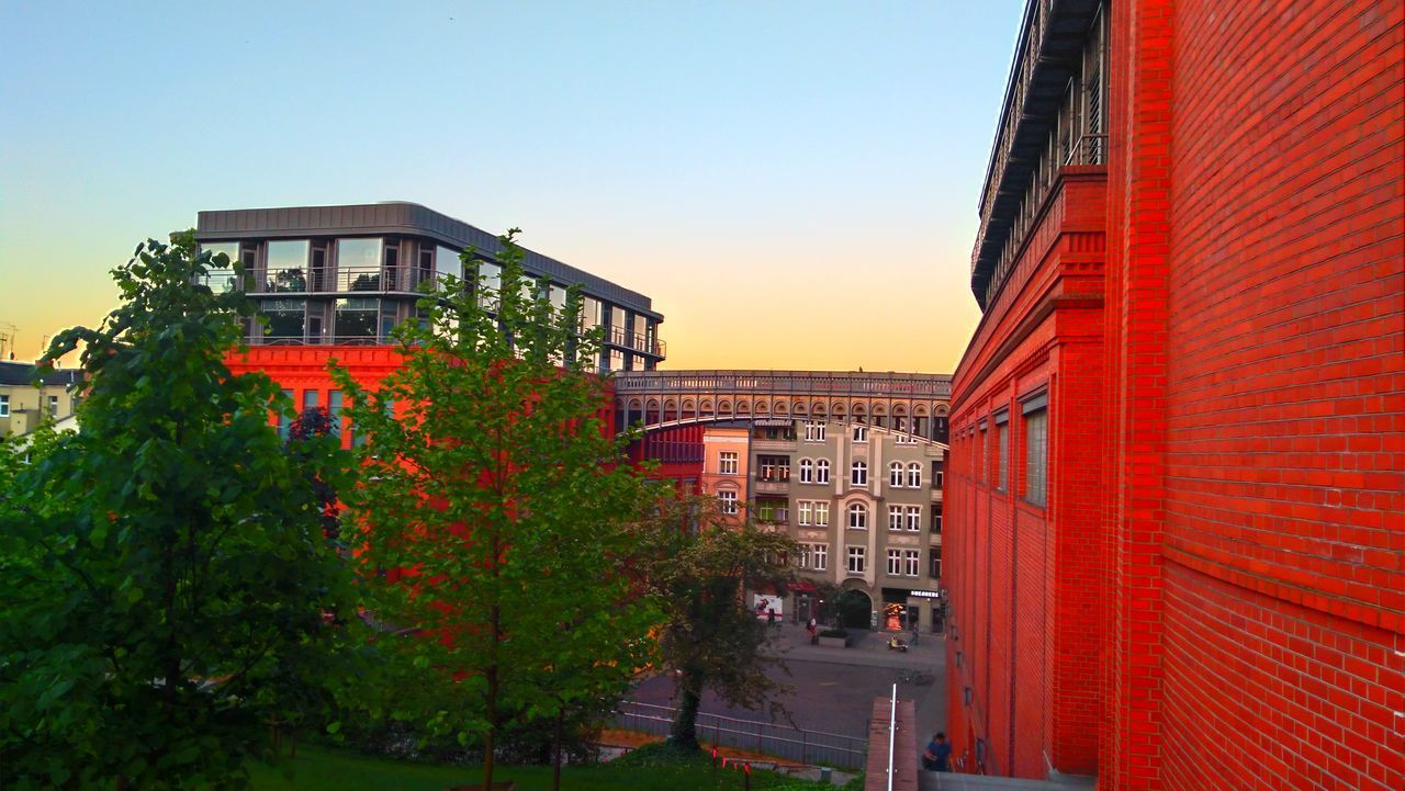 Architecture Building Exterior Built Structure City Clear Sky Day Growth HDR Hdrlovers Lenovotography Nature No People Outdoors Plant Poland Pollen Poznań Red Sky Stary Browar Tree The Great Outdoors - 2017 EyeEm Awards