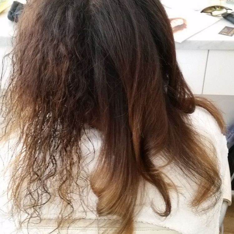 Blown out with just a bit of smoothing product. With this texture you need heat and good tention. I rolled everything back. Not trying to create to much body... Blowoutoftheday Blowout NewYearsHair