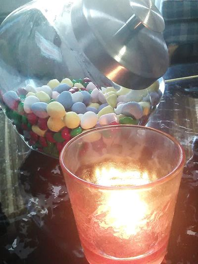 Light And Candy Candle Light Sweet Day Table Top Photography