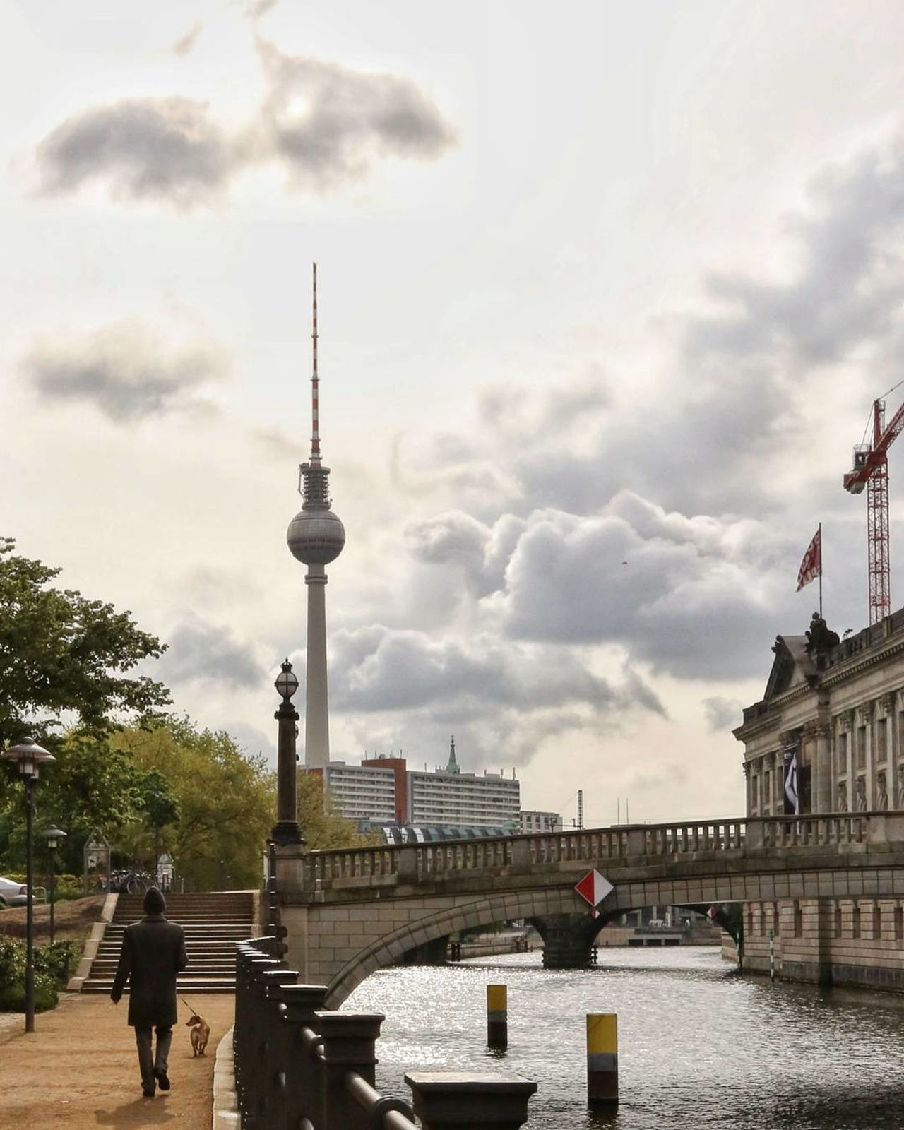 Tower Travel Destinations City Architecture Tourism Travel Cloud - Sky Communication Sky Cityscape Day Outdoors Built Structure Urban Skyline Adult People Full Length Adults Only Politics And Government One Person Eye4photography  EyeEm Best Shots Berlin Life