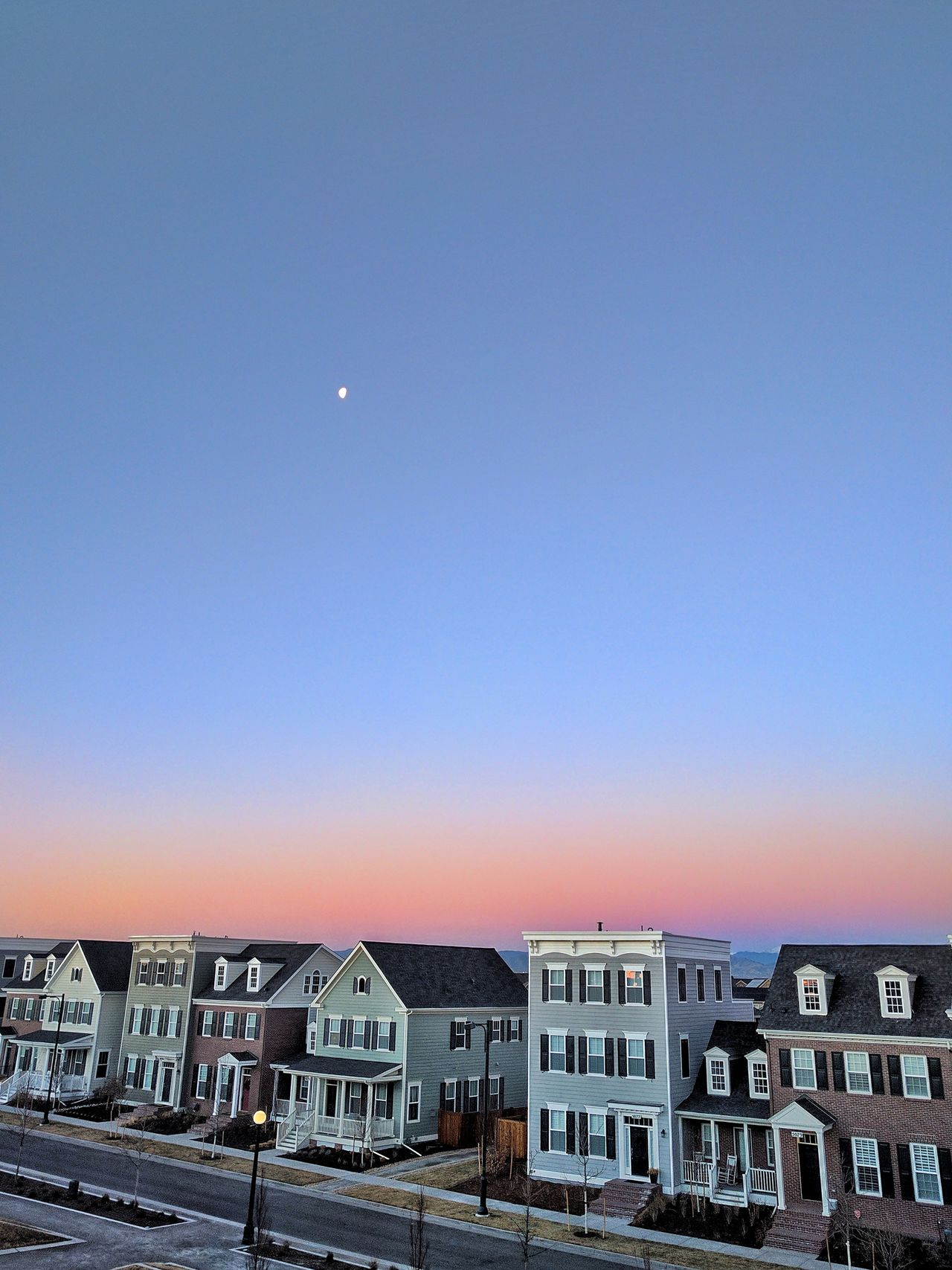 Architecture Building Exterior Built Structure City Clear Sky Day House Moon No People Outdoors Residential Building Sky