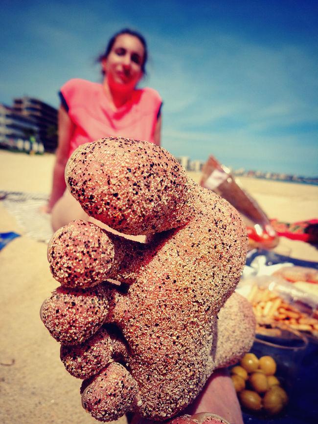 Beach Close-up Colorful Friends Picnic Sandy Feet