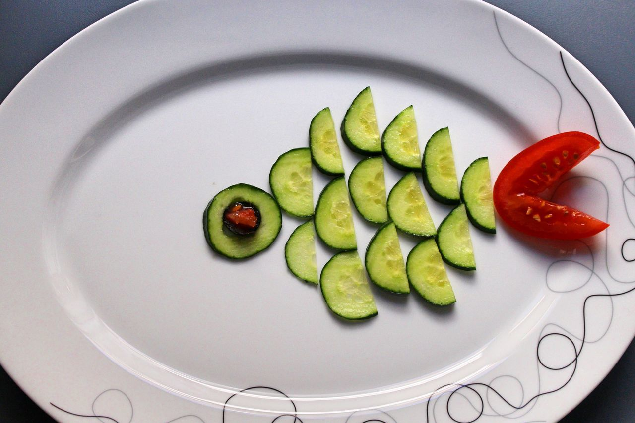 Art ArtWork BYOPaper! Close-up Cucumber Day Detail Food Food And Drink Food Art Freshness Healthy Healthy Eating Healthy Food Healthy Lifestyle Indoors  My Artwork No People Personal Perspective Plate Tomato Vegetable Vegetables Visual Feast Vitamin