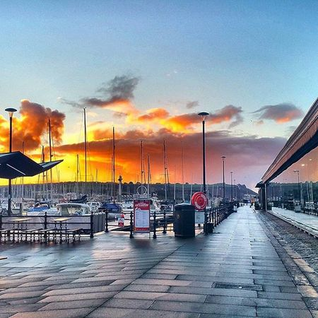 Sunrise over Plymouth this morning Plymouth Suttonharbour Plymouthbarbican Plymouthwaterfront Devon Swisbest SouthWestEngland RedSky Clouds Seaview Amaturephotography Photographer Daily_photoz Instagram Instalike Reflection Harbour Hdrphotography Nikond3200 @swisbest