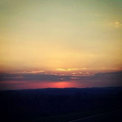Quinta-feira, um belo adeus Sundown Dusk Sun Theworldisawesome pr pontagrossa palmeira pordosol