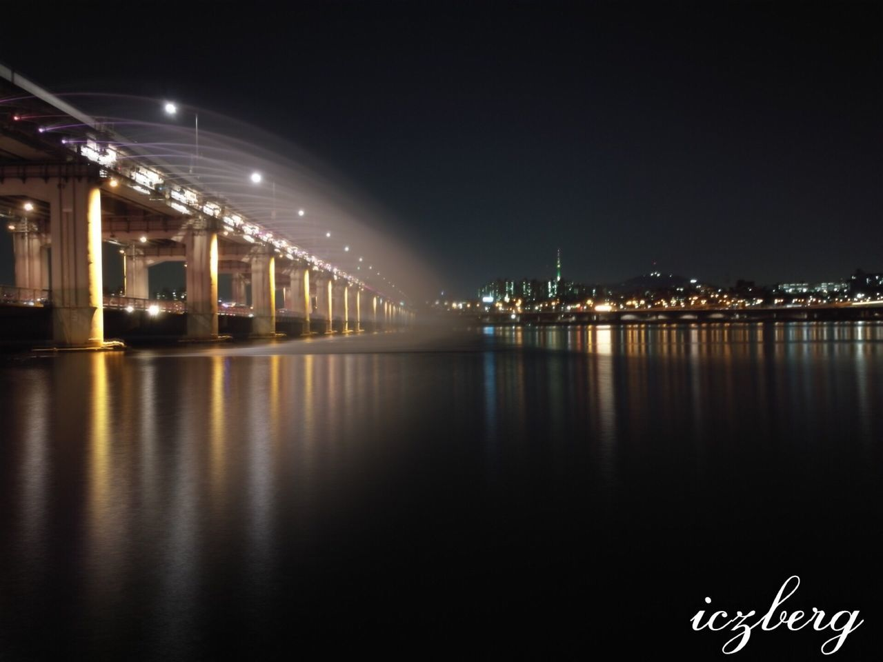 Banpo bridge Banpo Bridge Banpobridge Banpodaegyo Seoul South Korea River River View Reflect Reflectivelight Reflection Waterworks Fountain Spring