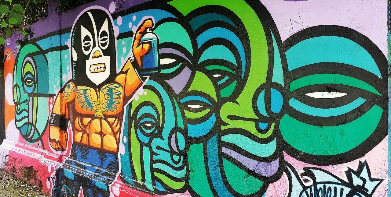Grafitti grafiteando Graffiti Art Graffiti Cdmx2016 Cdmx CDMX ❤ Lucha Libre Luchador Painting