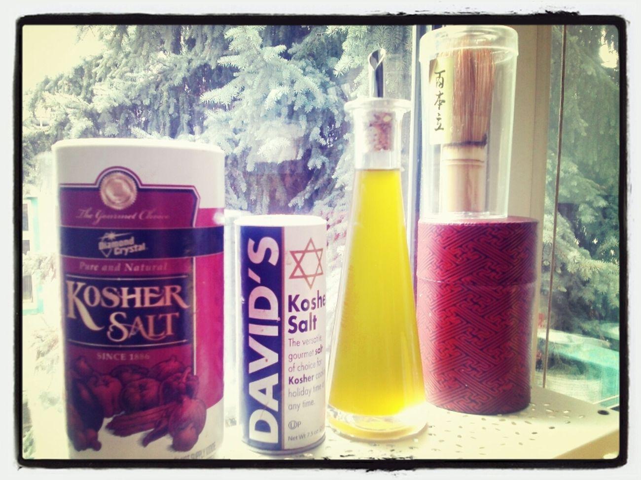 essentials Thx4cooking  Olive Oil Matcha Tea Kosher Salt