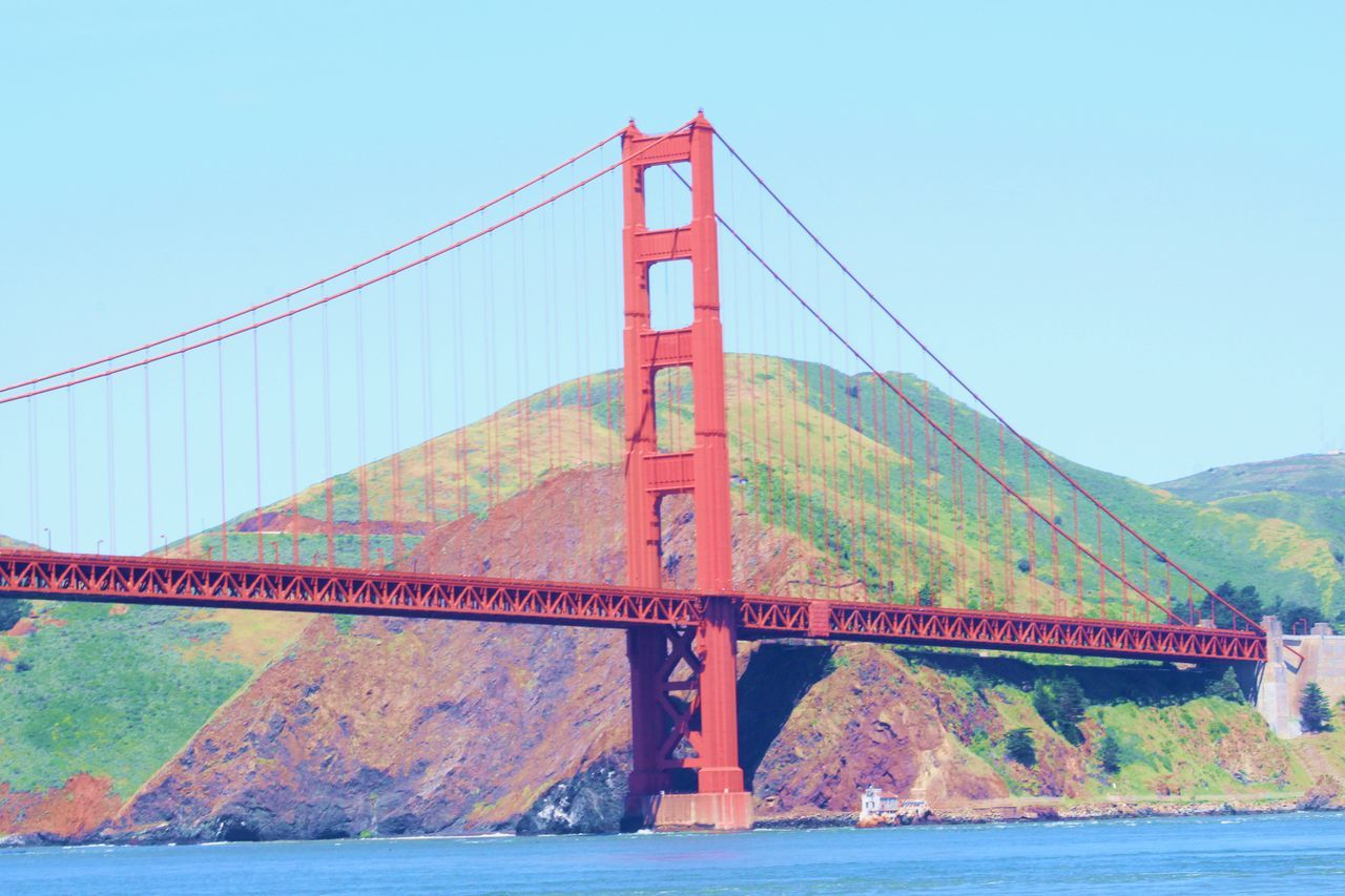 Architecture Bridge Bridge - Man Made Structure Built Structure Connection Day Engineering Golden Gate Bridge Mountain Nature No People Outdoors River San Francisco San Francisco, California Sky Suspension Bridge Transportation Travel Travel Destinations Water