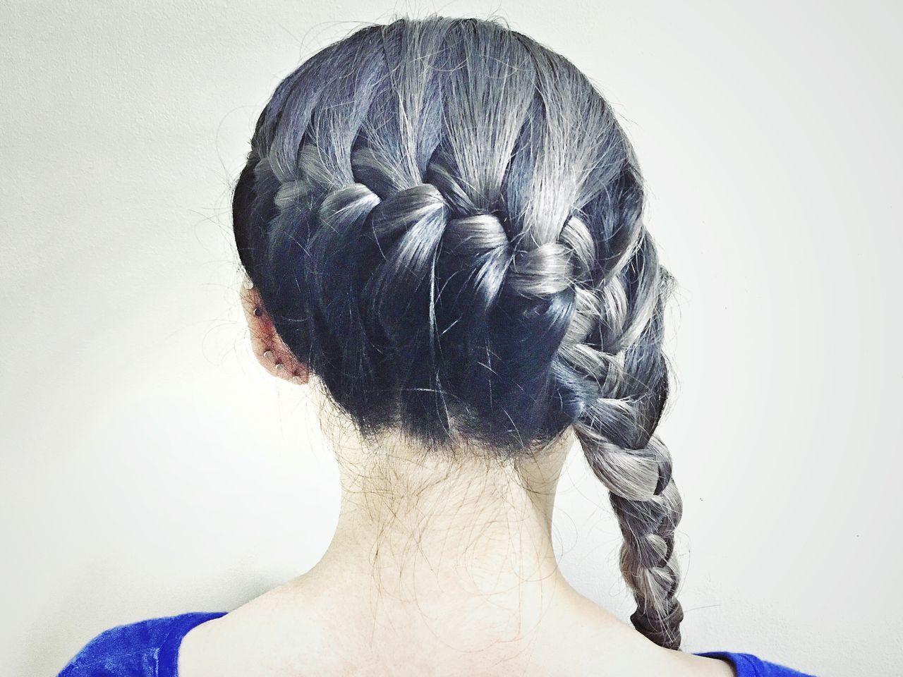 [ b r a i d s & g r e y ] Hair Hairstyle Greyhair  Hairporn Haircolor Braid Braided Hair