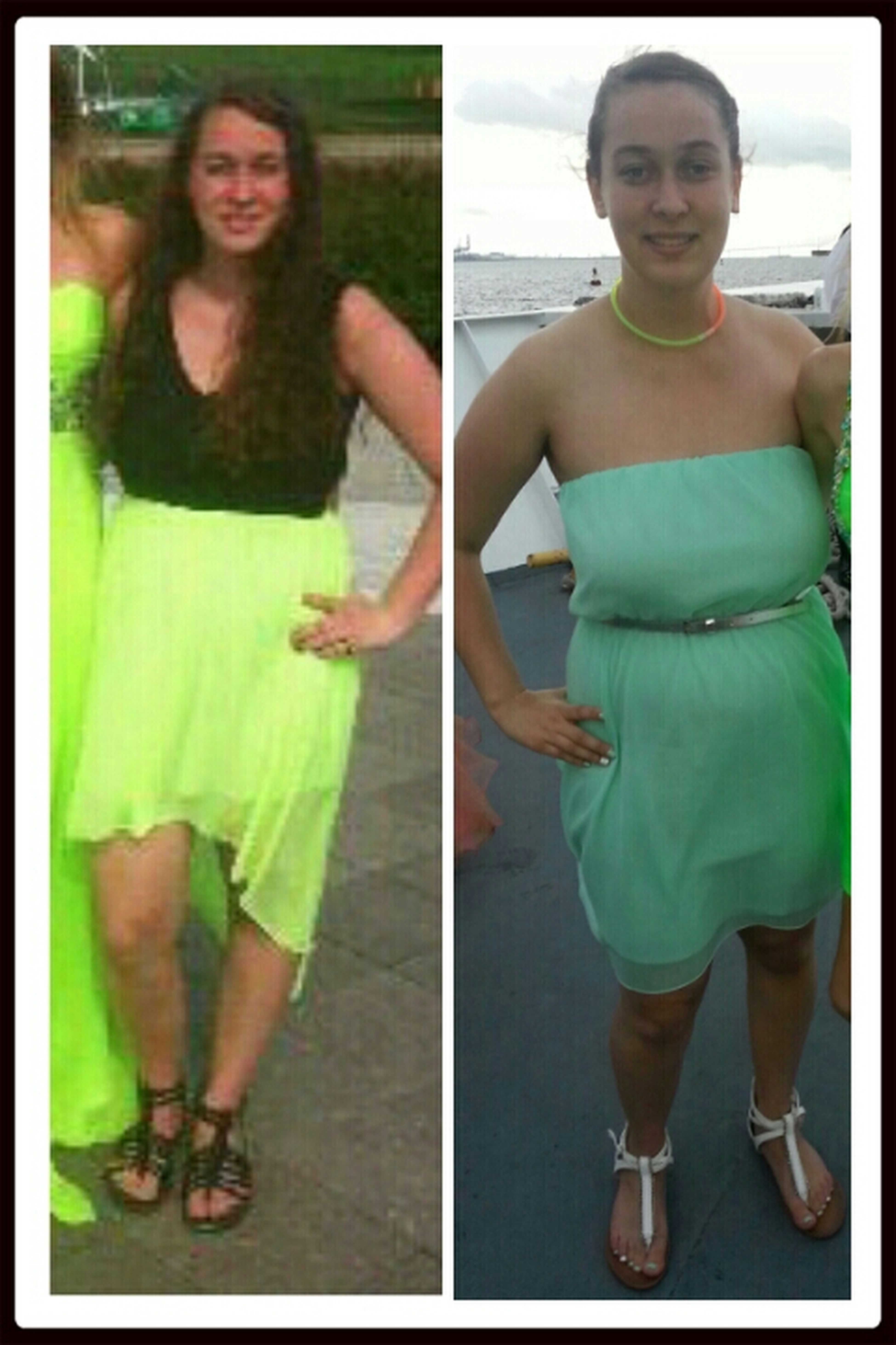 prom 2013 left picture in hotel. right picture on boat