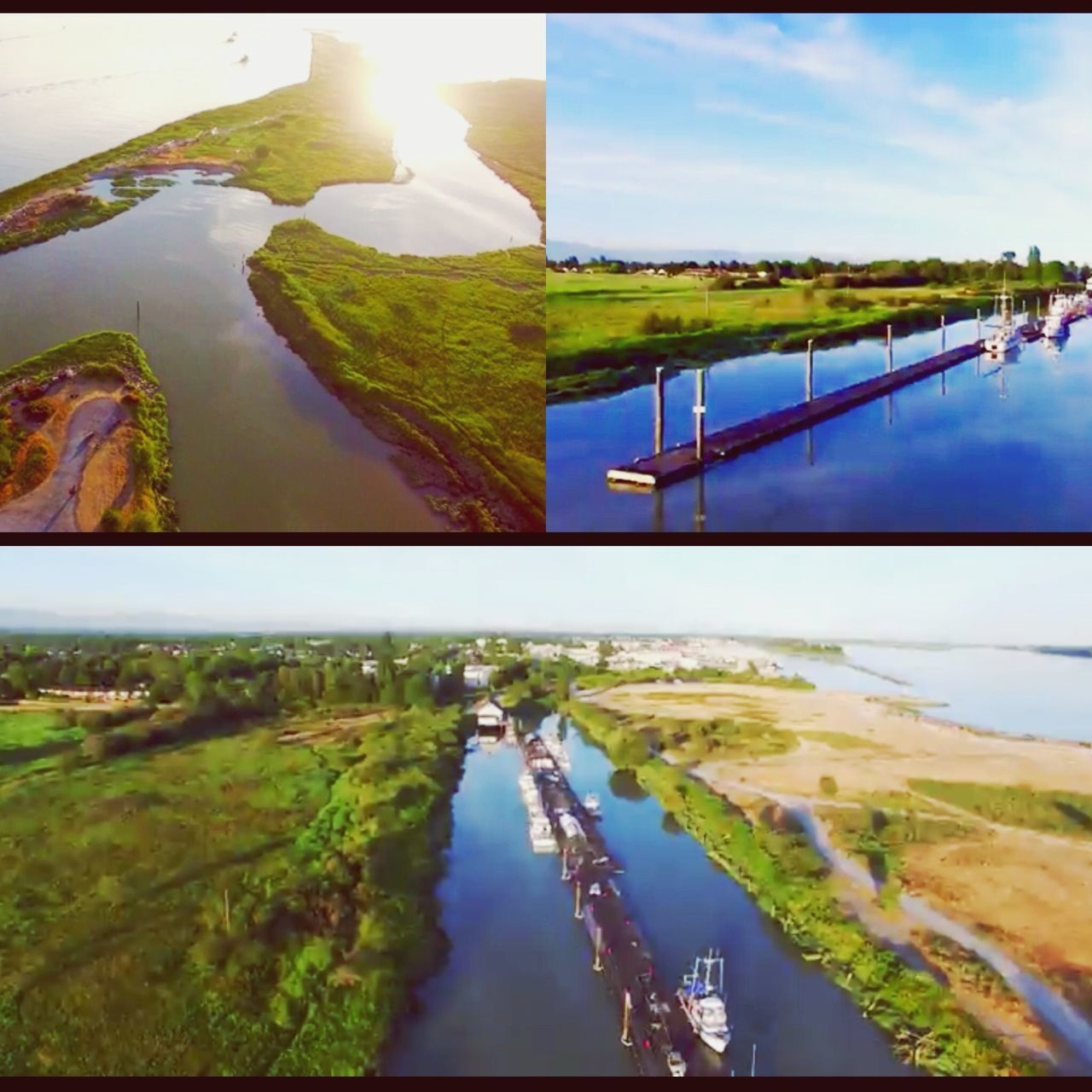 Collection of aerial view at Garry Point Park, Steveston, Richmond, BC EyeEm Nature Lover Dronephotography DJI Phantom 3 Professional Eye In The Sky Quadcopter Aerial Photography