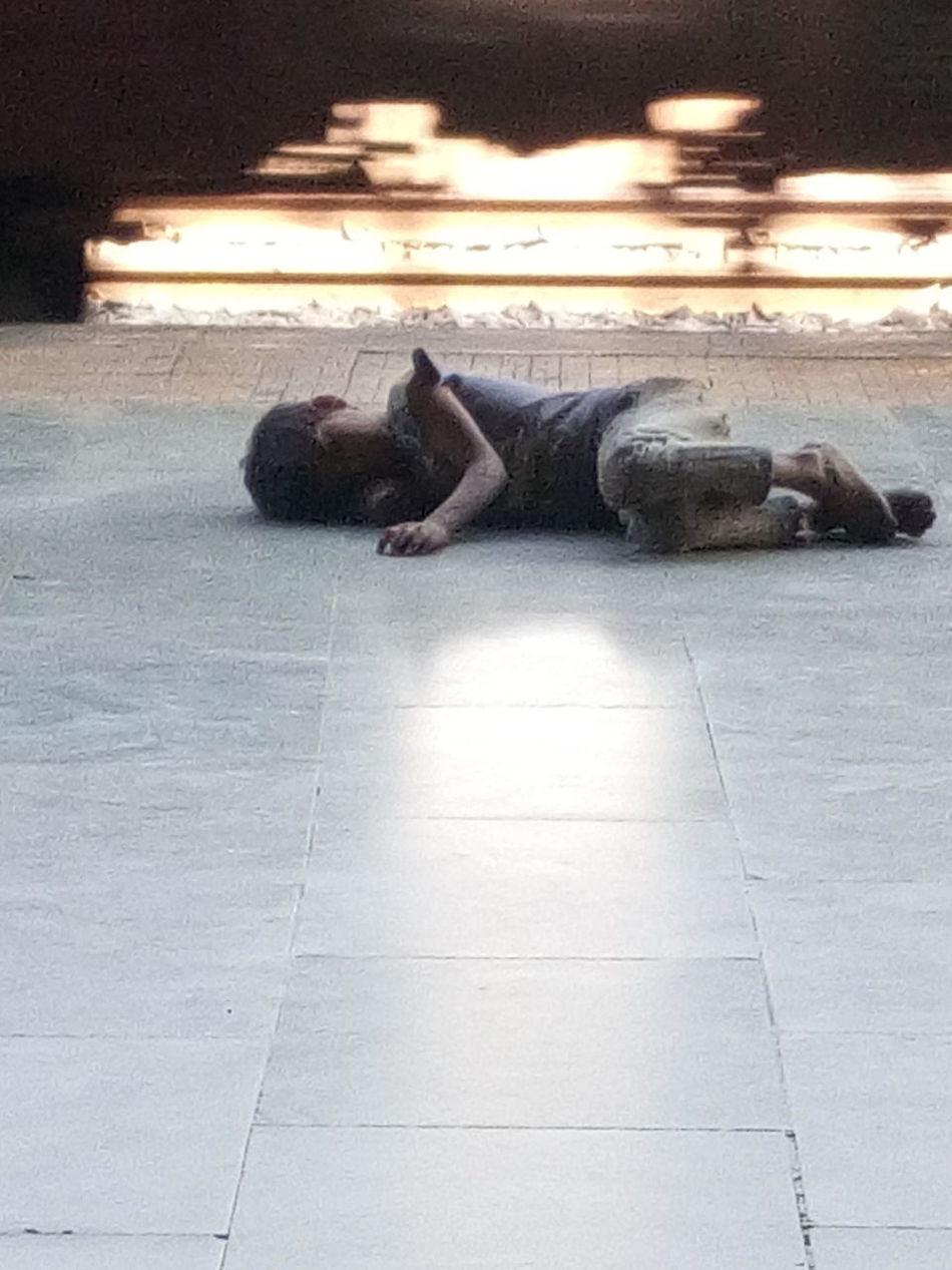 Beggar Sleeping Poor Children Dirty Railway Station Platform Poor Baby Poor Boy Poorness Behind The Luxuries