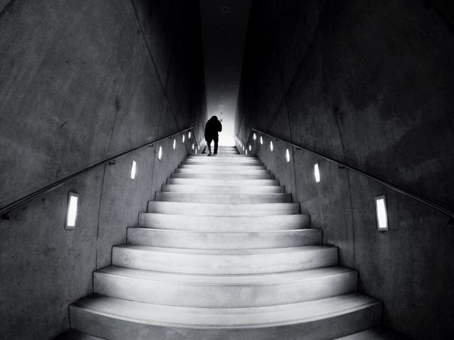 """"""" And after the stairs ? """" Open Edit EyeEm Best Shots Cityscapes Light And Shadow Creative Light And Shadow The Architect - 2015 EyeEm Awards Silhouette Eye4photography  Architecture Stairs"""
