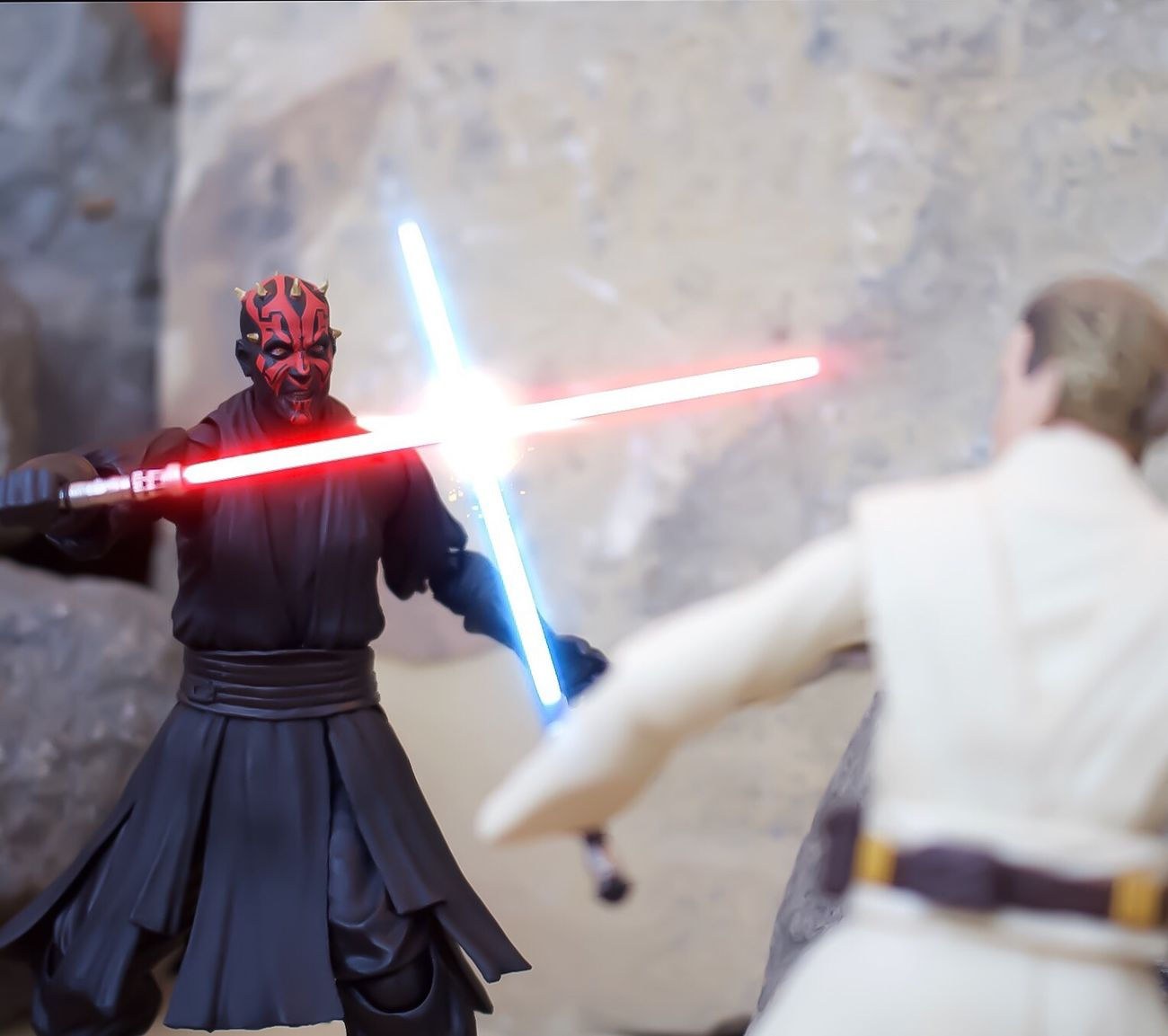 Toy Photography Toyphotography Starwars StarWars Collection SHfiguarts Obiwankenobi DarthMaul